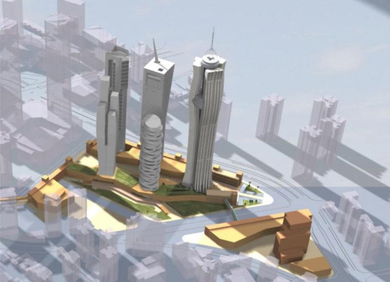 Masterplan für 5 Hochhäuser – Shanghai (CN)